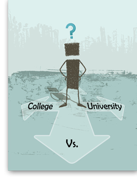 difference college university